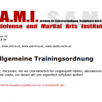 Trainingsordnung 1